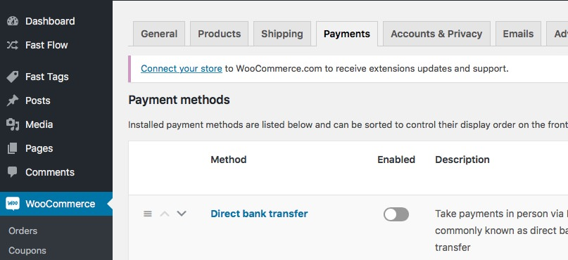 Woo Commerce Payments