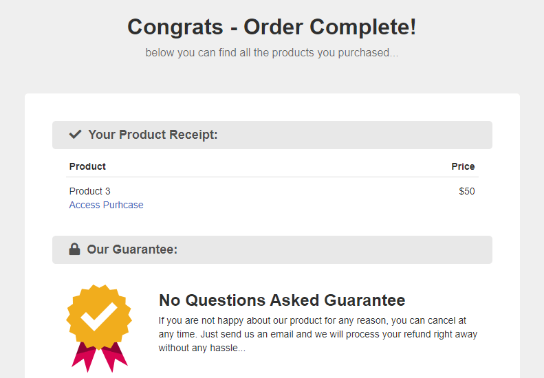 placing a test order 2