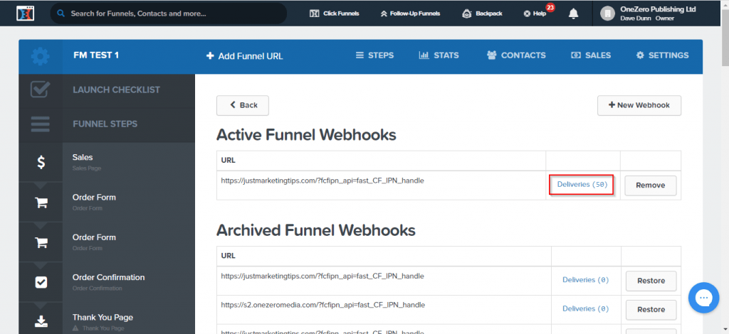 testing results clickfunnels 1